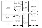 Farmhouse Style House Plan - 4 Beds 2.5 Baths 3356 Sq/Ft Plan #1060-1 Floor Plan - Upper Floor Plan