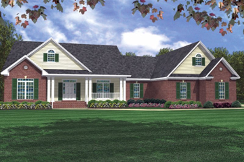 Traditional Exterior - Front Elevation Plan #21-220 - Houseplans.com
