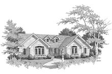 Dream House Plan - Traditional Exterior - Other Elevation Plan #57-184