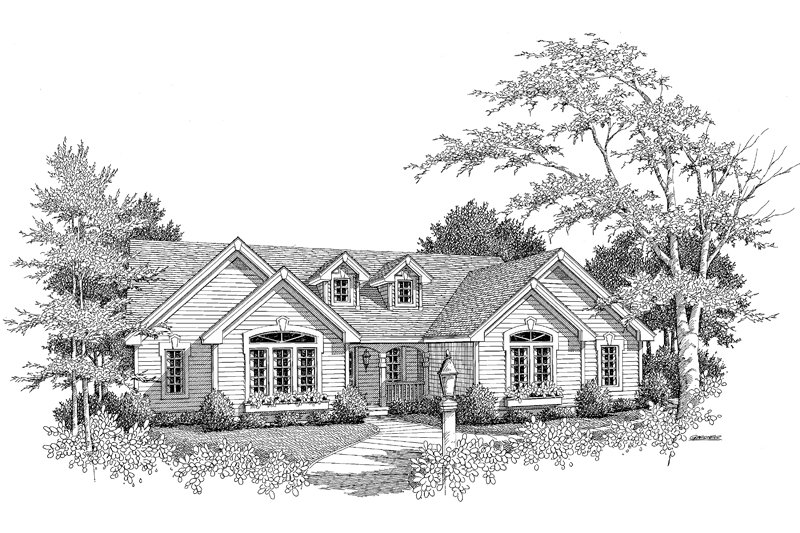 Traditional Exterior - Other Elevation Plan #57-184 - Houseplans.com