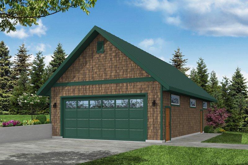 House Plan Design - Craftsman Exterior - Front Elevation Plan #124-1219
