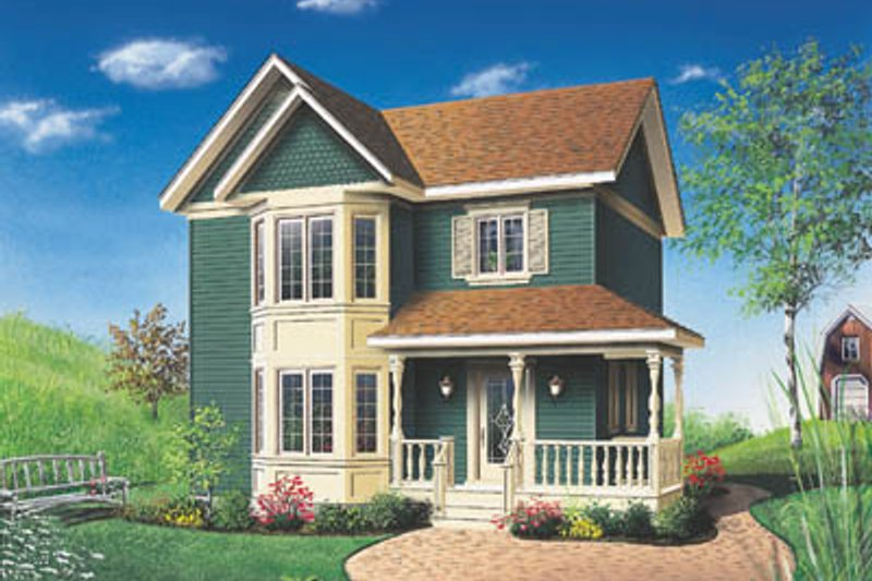 Victorian Style House Plan - 3 Beds 1.5 Baths 1286 Sq/Ft Plan #23-260