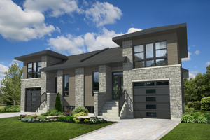 Contemporary Exterior - Front Elevation Plan #25-4611