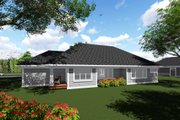 Craftsman Style House Plan - 2 Beds 2.5 Baths 1986 Sq/Ft Plan #70-1271 Exterior - Rear Elevation