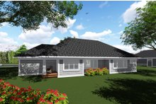 Craftsman Exterior - Rear Elevation Plan #70-1271