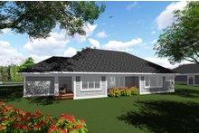 Dream House Plan - Craftsman Exterior - Rear Elevation Plan #70-1271