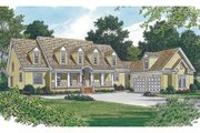 Country Style House Plan - 4 Beds 3.5 Baths 3636 Sq/Ft Plan #453-13 Exterior - Other Elevation