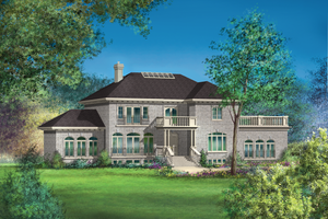 European Exterior - Front Elevation Plan #25-4757