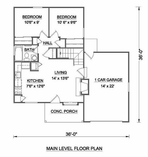 Tudor Floor Plan - Main Floor Plan #116-111