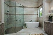 Mediterranean Style House Plan - 4 Beds 4.5 Baths 3682 Sq/Ft Plan #930-481 Interior - Master Bathroom