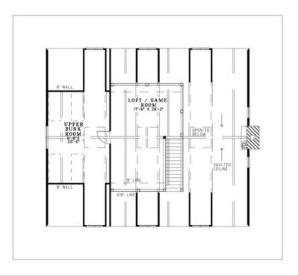 Country Floor Plan - Upper Floor Plan Plan #17-652