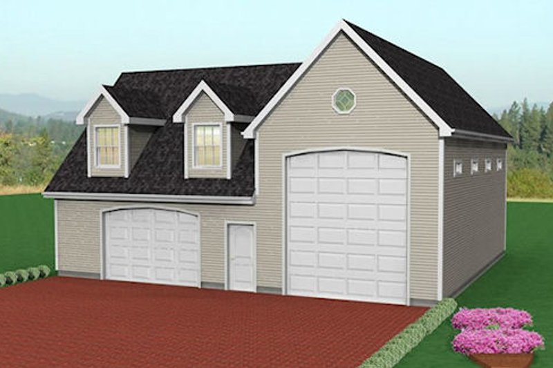Traditional Style House Plan - 0 Beds 0 Baths 1851 Sq/Ft Plan #75-203 Exterior - Front Elevation