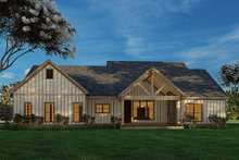 Dream House Plan - Craftsman Exterior - Rear Elevation Plan #923-175