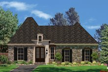 European Exterior - Front Elevation Plan #430-85
