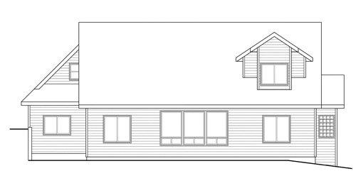 Traditional Exterior - Rear Elevation Plan #124-733 - Houseplans.com