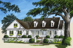 Architectural House Design - Country Exterior - Front Elevation Plan #137-103