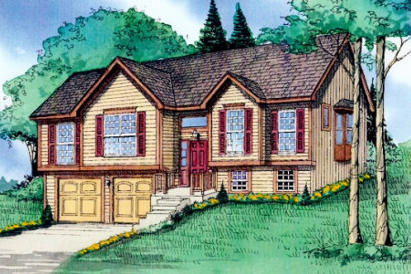 Traditional Exterior - Front Elevation Plan #405-165 - Houseplans.com