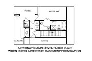 European Style House Plan - 4 Beds 2 Baths 1682 Sq/Ft Plan #45-256 Floor Plan - Other Floor Plan