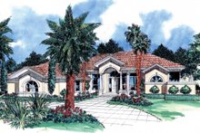 Home Plan - Mediterranean Exterior - Front Elevation Plan #930-25