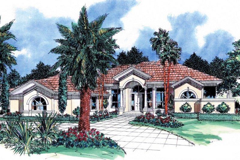 Architectural House Design - Mediterranean Exterior - Front Elevation Plan #930-25