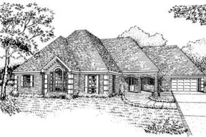 European Exterior - Front Elevation Plan #410-311