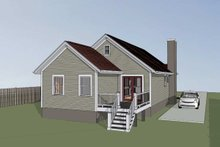 House Plan Design - Bungalow Exterior - Other Elevation Plan #79-309