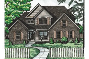 Traditional Exterior - Front Elevation Plan #20-222