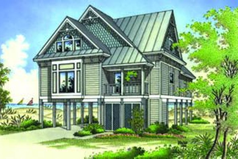 Dream House Plan - Beach Exterior - Front Elevation Plan #45-197