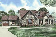 European Style House Plan - 5 Beds 3 Baths 2768 Sq/Ft Plan #17-2509 Exterior - Front Elevation