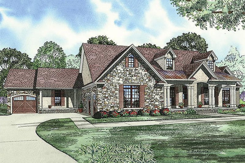 House Plan Design - European Exterior - Front Elevation Plan #17-2509