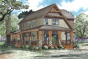 Country Style House Plan - 3 Beds 2 Baths 1705 Sq/Ft Plan #17-2434 Exterior - Front Elevation