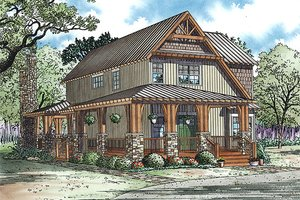 Country Exterior - Front Elevation Plan #17-2434