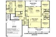 Farmhouse Style House Plan - 3 Beds 2 Baths 1740 Sq/Ft Plan #430-241