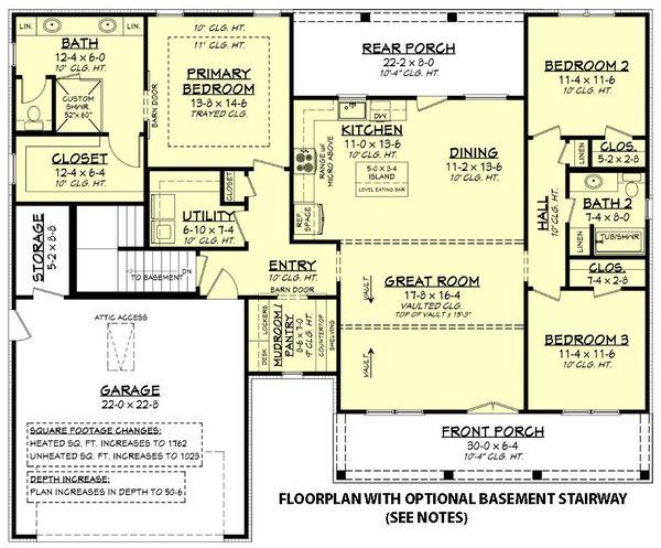 Farmhouse Floor Plan - Other Floor Plan #430-241