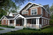 Craftsman Style House Plan - 5 Beds 3 Baths 3505 Sq/Ft Plan #100-459 Exterior - Front Elevation