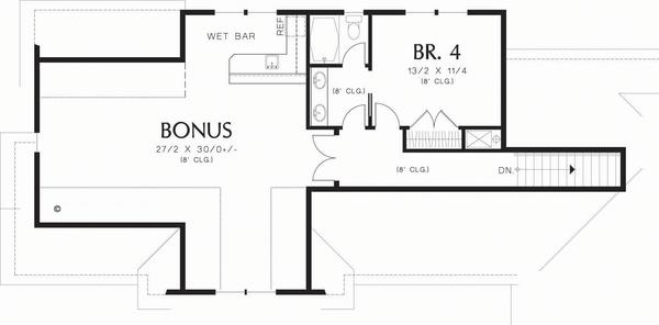 Craftsman Floor Plan - Upper Floor Plan Plan #48-548