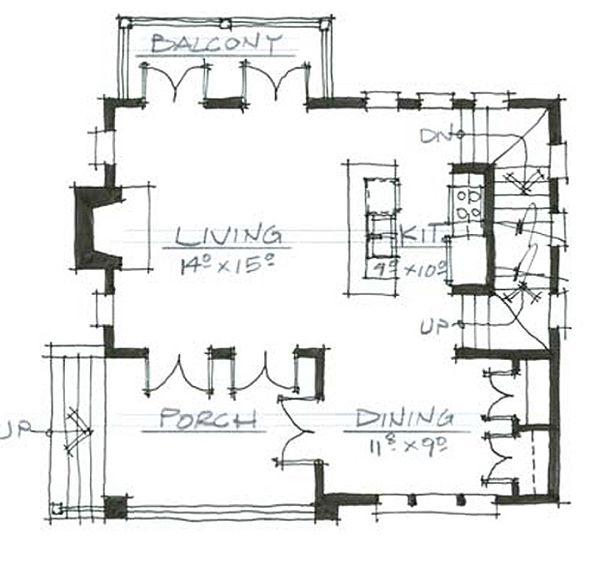 Cottage Style House Plan - 3 Beds 3 Baths 1841 Sq/Ft Plan #464-9 Floor Plan - Main Floor Plan
