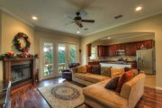 European Style House Plan - 3 Beds 2 Baths 1750 Sq/Ft Plan #430-42 Interior - Family Room