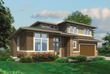 Dream House Plan - Front view - 3700 square foot Prairie style home