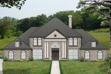 Home Plan - Colonial Exterior - Front Elevation Plan #84-433