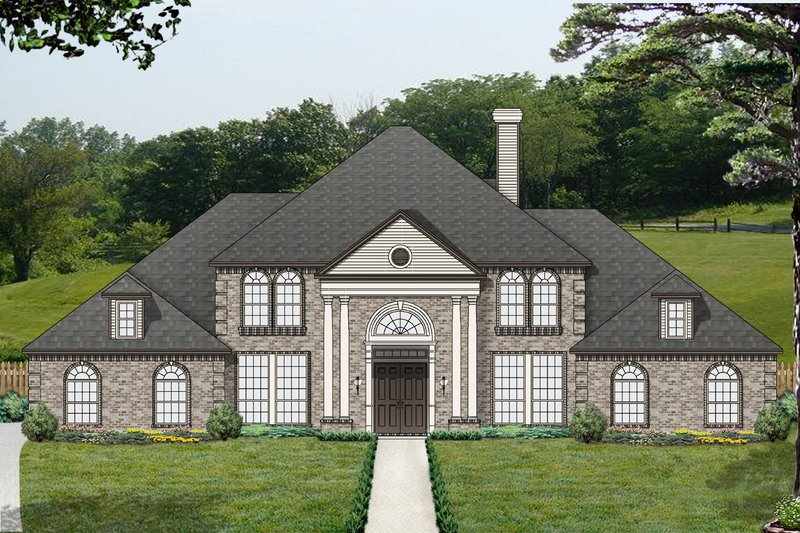 Colonial Exterior - Front Elevation Plan #84-433 - Houseplans.com