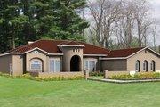Adobe / Southwestern Style House Plan - 5 Beds 3.5 Baths 3589 Sq/Ft Plan #1-859