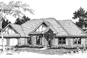 Dream House Plan - Traditional Exterior - Front Elevation Plan #14-107