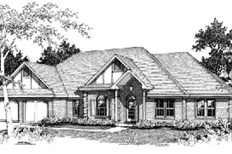 Traditional Exterior - Front Elevation Plan #14-107 - Houseplans.com