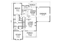 Cottage Floor Plan - Main Floor Plan Plan #513-2175