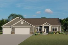 Architectural House Design - Ranch Exterior - Front Elevation Plan #1064-47
