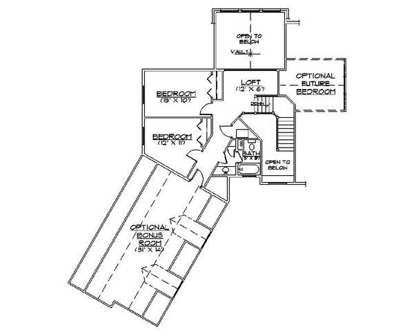 Country Floor Plan - Upper Floor Plan Plan #5-367