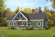 Dream House Plan - Ranch Exterior - Rear Elevation Plan #932-395