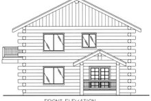 Dream House Plan - Log Exterior - Other Elevation Plan #117-552