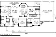 Country Style House Plan - 3 Beds 2 Baths 2016 Sq/Ft Plan #70-1050 Floor Plan - Main Floor Plan